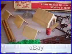 Vintage MARX BATTLE OF THE BLUE AND GRAY Civil War Playset #4760