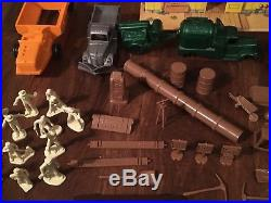 Vintage MARX CONSTRUCTION CAMP Play Set. Rare, excellent condition