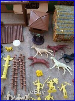 Vintage MARX Fort Apache Set #3647 Series 500. Mostly Complete. With Accessories