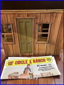 Vintage MARX Johnny West CIRCLE X RANCH No 5275 Cardboard Playset, Mint