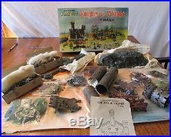 Vintage MARX Knights & Vikings Miniature Playset Hong Kong Some parts unopened