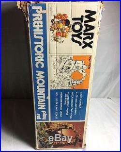 Vintage MARX Playset Prehistoric Dinosaur Mountain Cavemen Playset