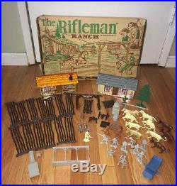Vintage MARX RIFLEMAN Ranch PLAYSET in Box LUCAS McCAIN Figure