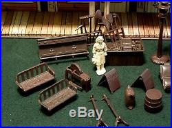 Vintage MARX Roy Rogers Western Town (Mineral City) Playset with Accessories