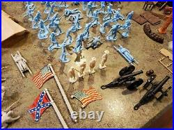 Vintage MARX Sears Heritage Blue & Gray Partial Soldiers + Fort Apache Misc Lot
