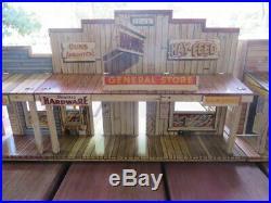 Vintage MARX & T. COHEN Metal Playlands-2 Roy Rogers Western Town & Fort Superior