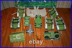 Vintage MPC Army Jungle Battlefront Playset With Tanks, Trucks, Soldiers Marx