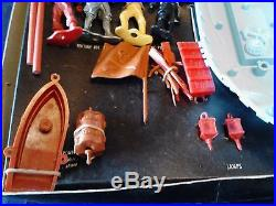 Vintage MPC YOUNG HEARTY'S PIRATE PLAYSET Complete in BOX Ringhand Figures Marx