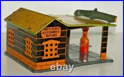 Vintage Marx 1929 Tin/metal Service Station Aero Gas Pump Hard To Find