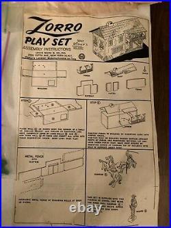 Vintage Marx, 1950's #3758 Zorro Playset with Original Box