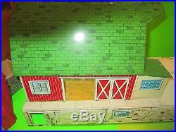 Vintage Marx 1966 Double Silo Platform Farm Set! T#985