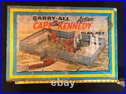 Vintage Marx 1968 Cape Kennedy Carry-All Action Playset Case + Accessories