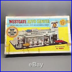 Vintage Marx 1968 Westgate Auto Center 3491 Metal Play Set In the Original Box