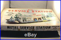 Vintage Marx 3474 Day & Nite Service Center Tin Litho Metal Service Station