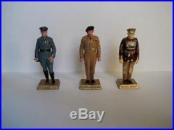 Vintage Marx 60mm HP WWII Military Leaders Figure Lot Playset Zhukov