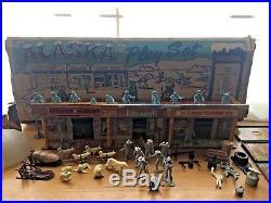 Vintage Marx Alaska Play Set Box #3708 Incomplete Set Free Shipping
