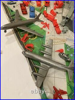 Vintage Marx American Airlines Astrojet Airport Playset