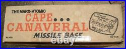 Vintage Marx Atomic Cape Canaveral Missile Base withBox many new parts #4521