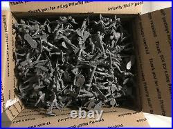 Vintage Marx Battle Ground/ DESERT FOX PLAYSET 400 DARK GREY GERMAN Soldiers