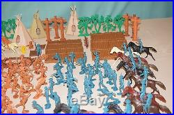 Vintage Marx Battle Little Big Horn Playset Huge Lot Custers Last Stand 1960s