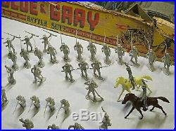 Vintage Marx Battle Of The Blue And Gray Battle Set With Box