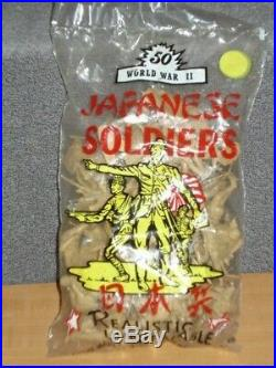 Vintage Marx Battleground 50 Japanese Soldiers in Sealed Bag Playset RARE