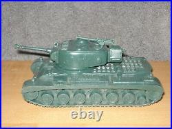 Vintage Marx Battleground Desert Fox 51 Large Tank Dark Green