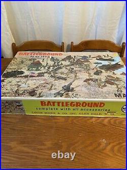 Vintage Marx Battleground Playset complete