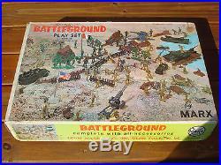 Vintage Marx Battleground WW II Playset #4756 In the Original Box