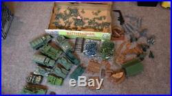 Vintage Marx Battleground WW II Playset #4756 with Box + extra set & parts