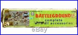 Vintage Marx Battleground WWII US Army German Soldier 182pc Lot Playset withBox