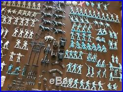 Vintage Marx Blue & Gray Civil War Battle Playset 227 Soldiers and Accessories