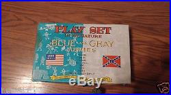 Vintage Marx Blue and Gray Armies Miniature Playset LOT