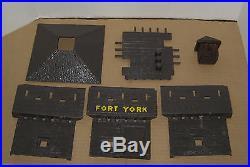 Vintage Marx Canada Fort York Rev War Playset Blockhouse Walls Gate