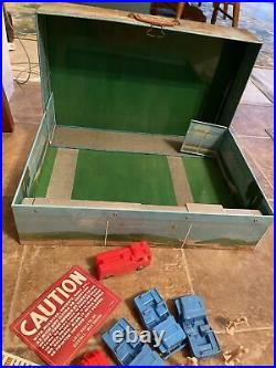 Vintage Marx Cape Kennedy Action Carry-all Tin Litho Playset No. 4625 Nice