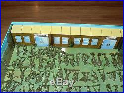 Vintage Marx Carry All Action Play Sets Cape Kennedy, Fort Apache, Boot Camp & F