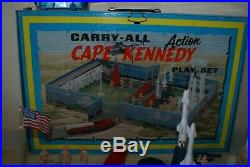 Vintage Marx Carry-all Action Tin Cape Kennedy Play Set Ships Free