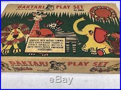 Vintage Marx DAKTARI JUNGLE Play Set #3717 Original Contents. Early Flat Colors