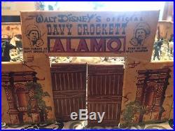 Vintage Marx Davy Crockett Alamo Playset Walt Disney's Toy
