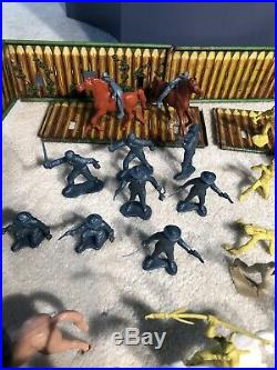 Vintage Marx Fort Superior Playset 1950s Horses Parts Us Cavalry Great Shape