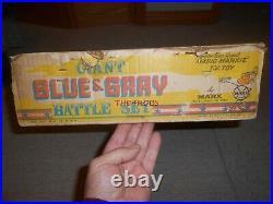 Vintage Marx Giant Blue & Grey Civil War Battle Playset in Box