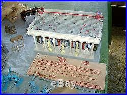 Vintage Marx Giant Blue and GreyBattle Set with Original Box