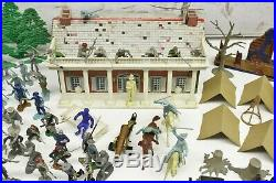 Vintage Marx Heritage Civil War Miniature Play Set Large Lot With Extra Pieces
