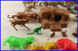 Vintage Marx Jungle Play Set Large Animals & Original Box