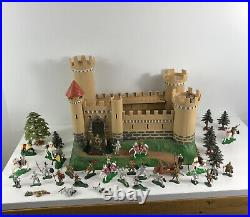 Vintage Marx Knights and Castle forest Vintage Playset Figure Lot Rare as is