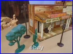 Vintage Marx Lithographed Roy Rodgers Mineral City Western Town Set