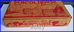 Vintage Marx Little Red Schoolhouse playset original box only excellent & HTF