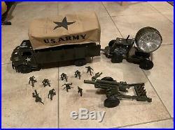 Vintage Marx Lumar Army Truck US Army Mobile Unit Military Play Set