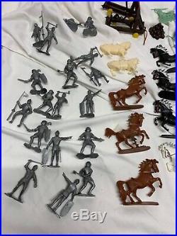 Vintage Marx Medieval Knights and Vikings Castle Playset Original Box