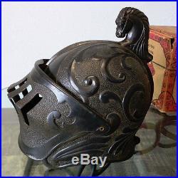 Vintage Marx Metal Medieval Armor Playset 1955 With Box Helmet Shield 1950's Toy
